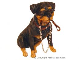 Sitting Rottweiler Walkies 6'' Dog Figurine by Leonardo