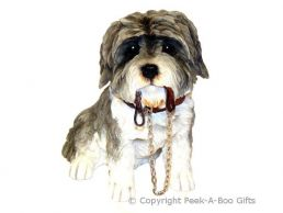 Sitting Grey Shih Tzu Walkies 6'' Dog Figurine by Leonardo