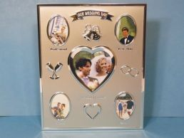 "Silver Plated ""Our Wedding"" Collage Photo Frame"