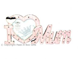 I Love Mum Silver Plated Photo Frame