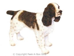 Standing English Springer Spaniel Medium Dog Figurine-Sculpture