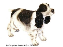 Standing Cocker Spaniel Medium Dog Figurine-Sculpture by Leonardo