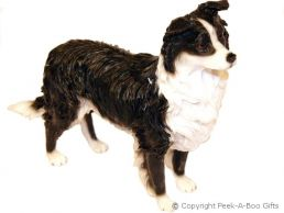 Standing Border Collie Dog Figurine Medium by Leonardo