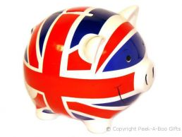Bone China British Union Jack Flag Money Piggy Bank by Leonardo