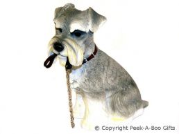 Sitting Schnauzer Walkies 7.25'' Dog Figurine by Leonardo