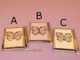 Notebook & Pen Pastel Butterfly with Enamel & Diamante Jewels