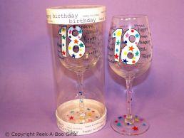 Hundreds & Thousands 18th Birthday Wine Glass by Leonardo