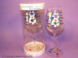 Hundreds & Thousands 18th Birthday Wine Glass by Leonardo