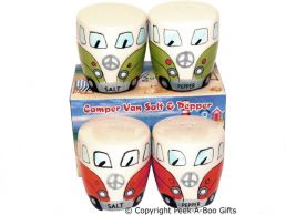 3D VW Camper Van Shaped Decorative Salt & Pepper Set Series 1