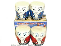 3D VW Camper Van Shaped Decorative Salt & Pepper Set Series 2