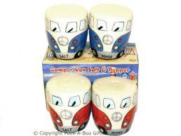 3D VW Camper Van Shaped Decorative Salt & Pepper Set Series 2