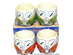 3D VW Camper Van Shaped Decorative Twin Egg Cup Set Series 1