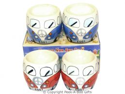 3D VW Camper Van Shaped Decorative Twin Egg Cup Set Series 2