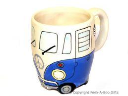 3D VW Camper Van Shaped Decorative Mug in Blue by Leonardo