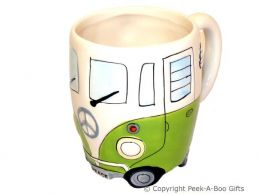 3D VW Camper Van Shaped Decorative Mug in Green by Leonardo