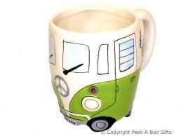 3D VW Camper Van Shaped Decorative Mug in Green by Leonardo