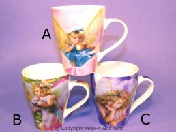 Fairy Child Bone China Tulip Shaped 3 Assorted Mug by Leonardo