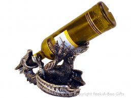 Novelty Resin Laying Dragon Boozer Wine-Spirit Bottle Holder