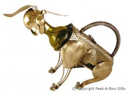 Metal Novelty Dog Shaped Wine or Spirit Bottle Holder by Leonardo
