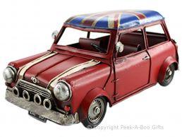 Nostalgic Tin Union Jack Classic 1960's Mini Cooper Car Metal Model by Leonardo