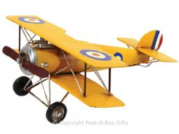 Nostalgic Tin Sopwith Camel WWI Biplane Metal Airplane Model by Leonardo
