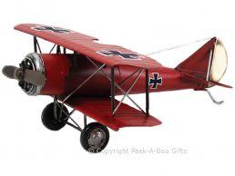 Nostalgic Tin Red Baron Focke Wulf Airplane Metal Model by Leonardo