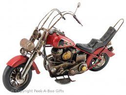 Nostalgic Tin Harley-Davidson Hog Type Motorbike Large Metal Model