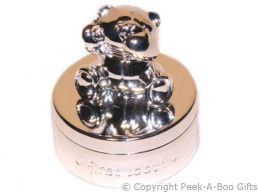 Forever Friends Baby My 1st Tooth Round Trinket Box Silver Plated