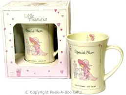 Little Treasures Mum Fine Bone China Gift Mug by Annabel Spencely
