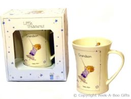 Little Treasures Grandson Gift Mug by Annabel Spencely