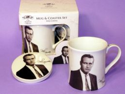 Iconic Paul Newman China Mug & Coaster Set by Leonardo