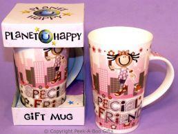 Planet Happy Female Special Friend China Gift Mug by Leonardo