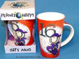 Planet Happy Male 16th Birthday Bone China Gift Mug by Leonardo