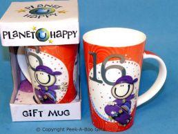 Planet Happy Male 16th Birthday Bone China Gift Mug by Leonardo