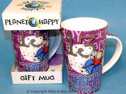 Planet Happy Male 13th Birthday Bone China Gift Mug by Leonardo