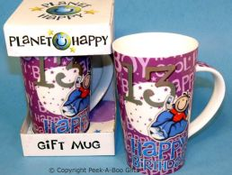 Planet Happy Male 13th Birthday Bone China Gift Mug by Leonardo