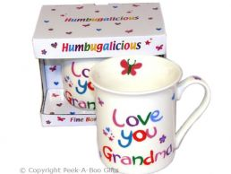 Love You Grandma Humbugalicious Bone China Mug by Leonardo