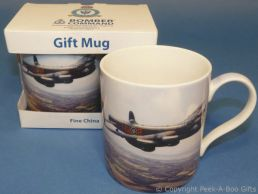 Bomber Command Lancaster Bomber Fine China Mug by Leonardo