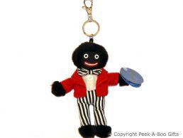 Nostalgic Golly Soft Toy Key Ring with Black & White Striped Pants