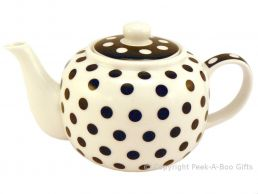 Leonardo Black & White Cascade Collection Fine China Teapot