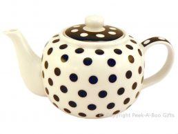 Leonardo Black & White Cascade Collection Fine China Teapot