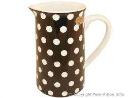 Leonardo Black & White Cascade Polka Dot Collection Fine China Large Jug