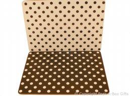 Leonardo Black & White Cascade Polka Dot Collection Set of 4 Placemats Corked Backed
