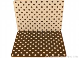 Leonardo Black & White Cascade Polka Dot Collection Set of 4 Placemats Corked Backed
