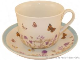 Leonardo Butterfly Meadow Collection Fine China Jumbo Cup & Saucer