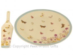 Leonardo Butterfly Meadow Collection China Cake Plate & Server