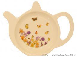 Leonardo Butterfly Meadow Collection Melamine Teabag Holder Tidy