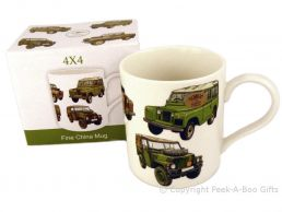 Leonardo Classic Land Rover 4x4 Straight Sided Bone China Boxed Mug