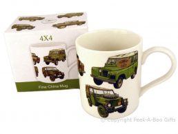 Leonardo Classic Land Rover 4x4 Straight Sided Bone China Boxed Mug