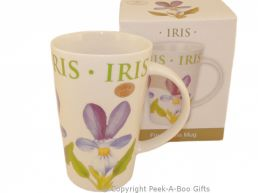 Leonardo Flower Garden Collection China Latte Mug Iris Design